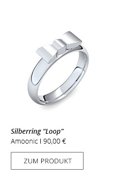 Silberring Schleife